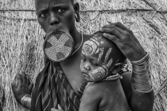 Mursi Woman with Child